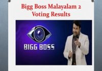 Bigg Malayalam 2 Voting Results