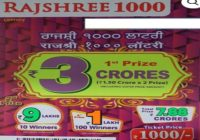 Mizoram Lottery Rajshree 1000 Lottery result