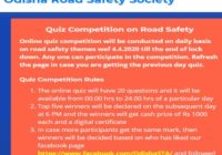 Odisha Road Safety Quiz Result