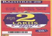 Mizoram Rajshree 20 Monthly Lottery Results