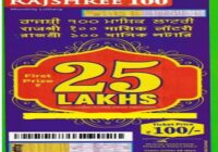 Rajshree 100 Monthly Lottery result