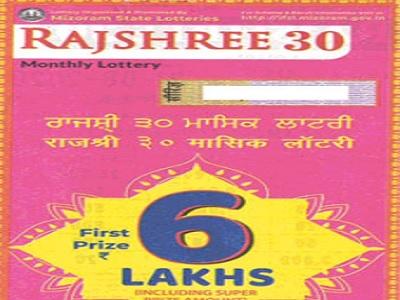 Mizoram State Rajshree 30 Lottery Result