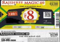 Rajshree Magic 40 Lottery result