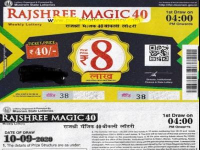 Rajshree Magic 40 Lottery result