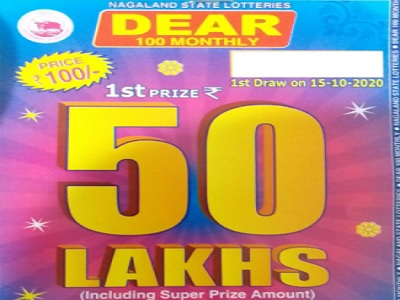 Nagaland State Lottery Dear 100 monthly result