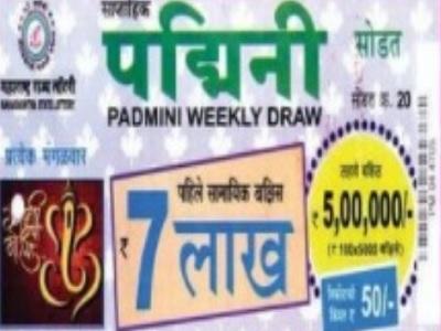 Maharashtra Padmini Lottery Result