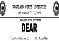 nagaland dear parrot lottery results 8 PM