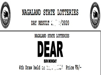 Nagaland Dear moon Lottery 4 PM Results Tuesday Weekly Lottery