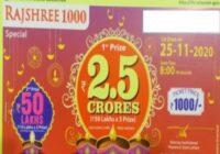 Mizoram Rajshree 1000 Special Lottery Results 2020