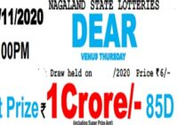 nagaland Dear venus Lottery Results