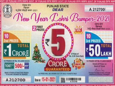 Punjab Dear New Year Lohri Lottery Result 2021