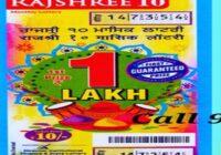 Mizoram Rajshree 10 Monthly lottery Results