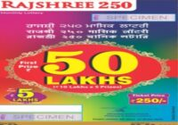 Rajshree 250 Monthly Lottery Results 2021