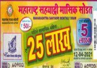 Maharashtra Sahyadri Monthly Lottery Results 2021