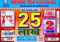 Maharashtra State Din Bumper Lottery Results 06-07-2021