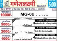 Maharashtra Ganesh Laxmi Lottery Result