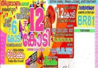 Kerala State Thiruvonam Bumper Lottery Result 2021